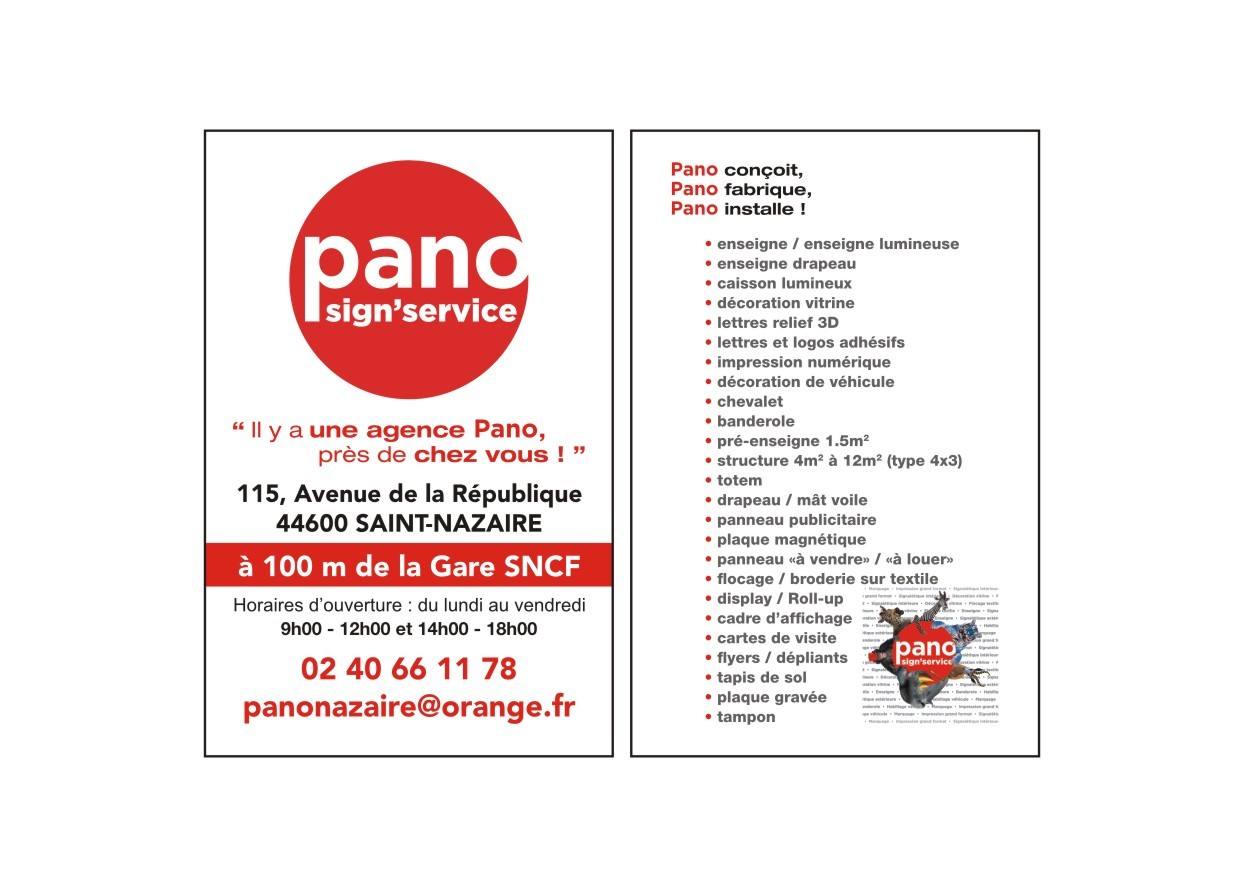 Galerie d'image - Pano sign' service