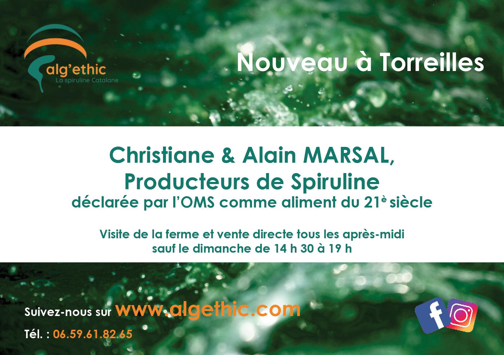 Galerie d'image - ALG'ETHIC La spiruline Catalane